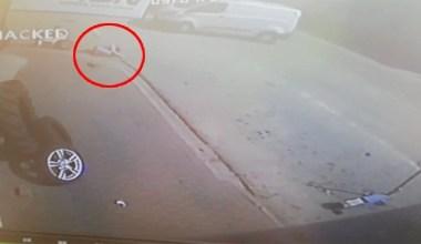 Dehşet veren kaza kameraya yansıdı