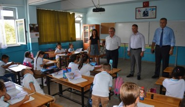 Kaymakam Çalık, okulları ziyaret etti