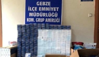 Kocaeli merkezli kaçak sigara operasyonu: 22 gözaltı