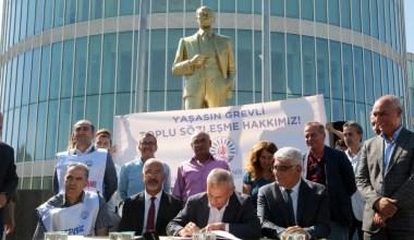 Küçükçekmece Belediyesi, belediye çalışanlarıyla toplu iş sözleşmesi imzaladı