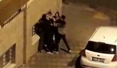 Esenler'de mahallenin ayağa kalktığı kavga kamerada