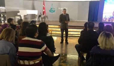 Psikolog Prof. Dr. Acar Baltaş, Üsküdar Nevmekan Sahil'de seminer verdi