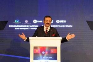 """Hisarcıklıoğlu: """"Kırgızistan ile çok daha büyük ticaret hacmine ulaşmamızın mümkün"""""""