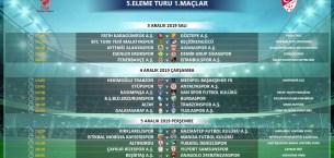 Kupada 5. Tur programı belli oldu