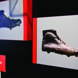 You can see the time-tunnel of crampons in the BJK Museum