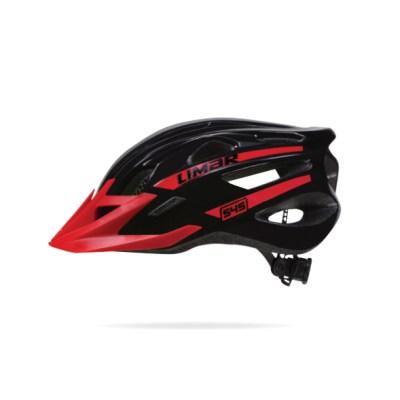 casco limar 545 graduable negro rojo