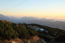 The sun is still going down over the Berchtesgadener Alps