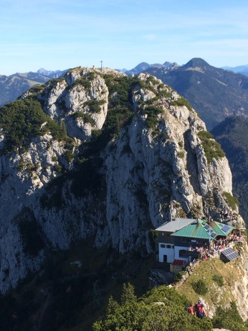 Looking at the Tegernseer Hütte from the Roßstein