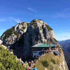 The Tegernseer Hütte overflowing with hikers
