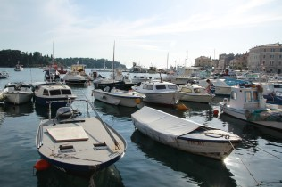 More boats in the old port in Rovinj