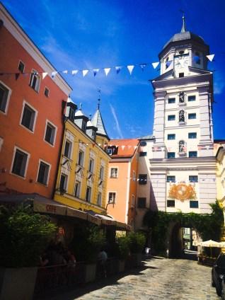 Vilshofen town centre