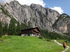 On the trail to rifugio Tre Scarperi in the Dolomites