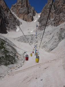 Gondola to Rifugio Lorenzi
