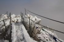 A bridge leading to the Kampenwand summit
