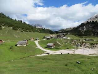 A rifugio in the Italian Dolomites