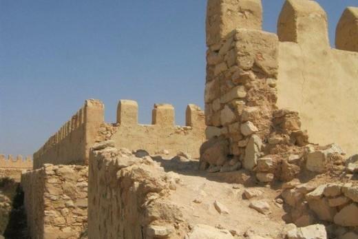 Contribution américaine à la restauration de l'un des remparts de la Kasbah d'Agadir Oufella