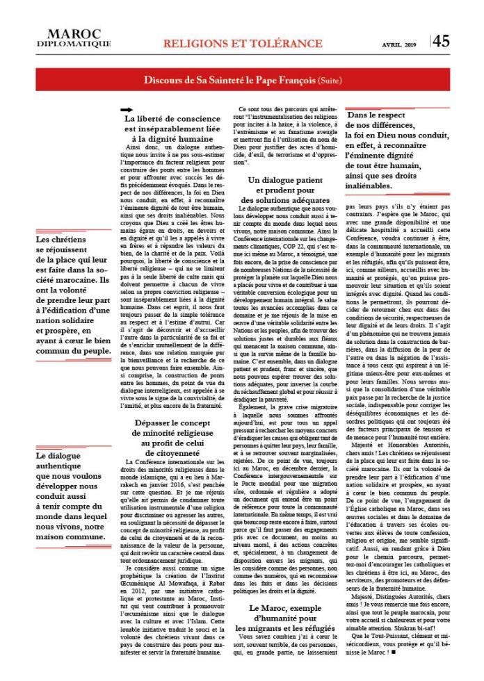 https://i2.wp.com/maroc-diplomatique.net/wp-content/uploads/2019/04/P.-45-Discours-Pape-2.jpg?fit=696%2C980&ssl=1