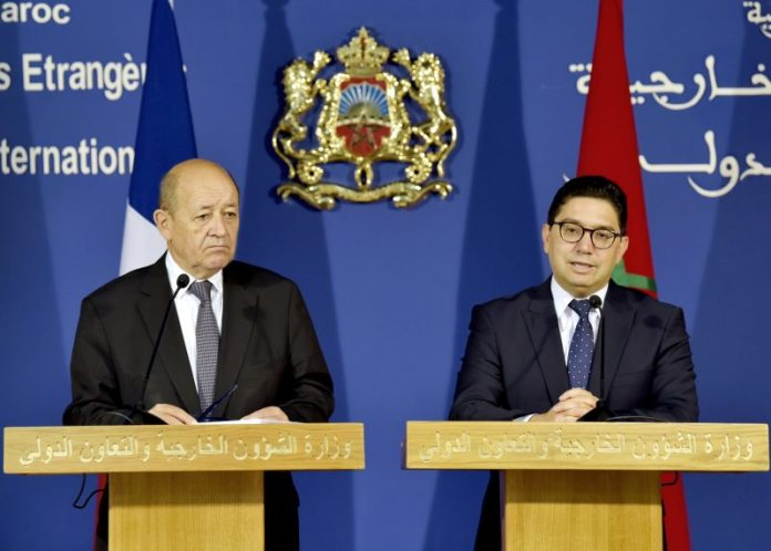 Conférence de presse conjointe de Bourita et Jean-Yves Le Drian
