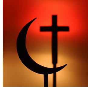 Symboles des religions : Christianisme et Islam