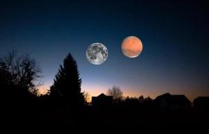 Une soirée astrale mystique entre Mars et éclipse