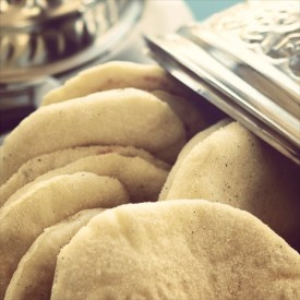 Morocco food: bread and silver