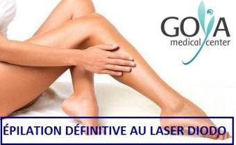 PROMOTION! Pack d'épilation définitive au laser Diodo pour jambes complètes