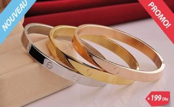3 Bracelets de luxe en plaqué Or/platine PROMO fin d'année