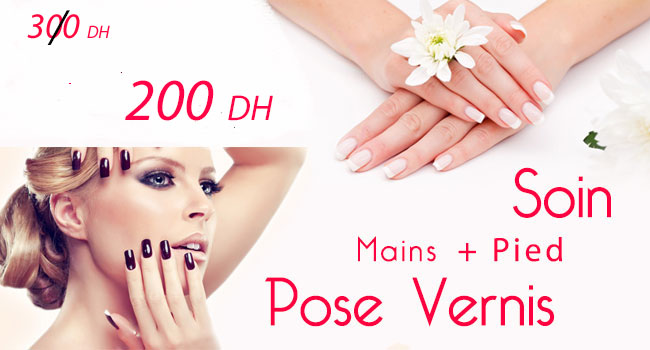 Promotion Soin visage + Pose Vernis (mains & Pied)