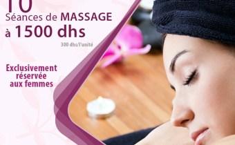 OFFRE RAMADANESQUE ! 10 Massages Relaxant À 1500 DHS !