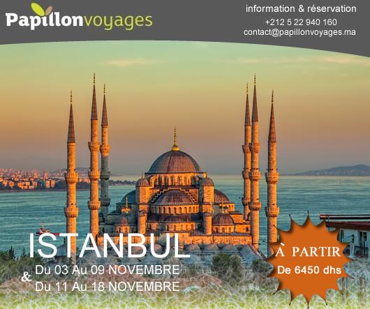 ISTANBUL EN NOVEMBRE A PARTIR DE 6450 DHS