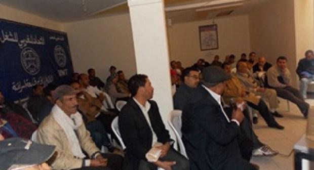 الاتحاد المغربي للشغل ينتفض ضد الباطرونا والمسؤولين بقلعة السراغنة