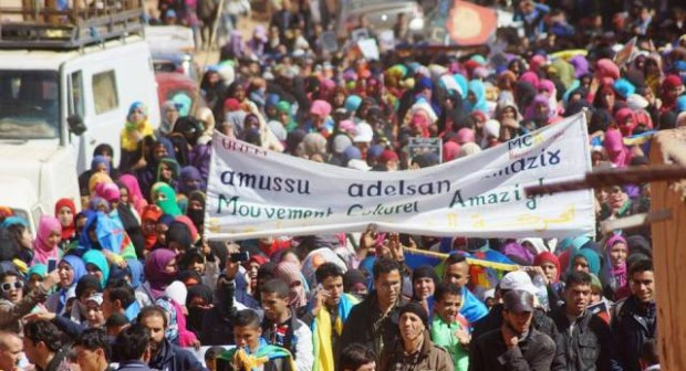 الآلاف يشاركون في حفل تأبين شهيد القضية الامازيغية باكنيون اقليم تنغير