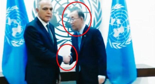 فيديو – اللحظة التي ظن الأمين العام بان كي مون أن مزوار سيعتدي عليه