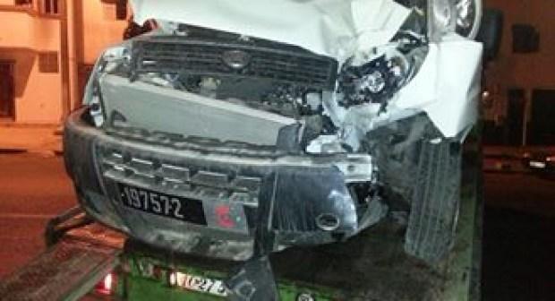 أكادير:سائق سيارة الجماعة سكران يتسبب في حادثة  سير خطيرة (الصور)