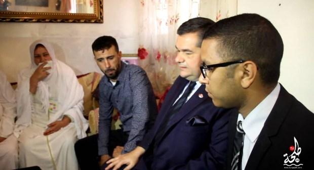 فيديو : سفير تركيا بمنزل عائلة جواد مرون