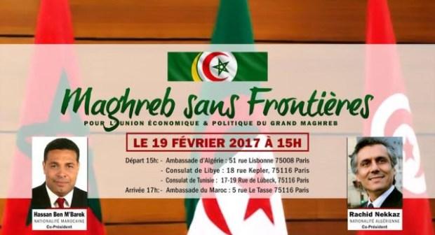 La Marche à Paris pour l'union économique et politique du Maghreb