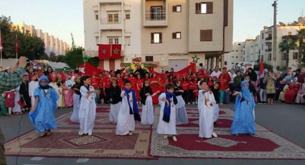 أكادير: احتفال  أشبال مؤسسة منيب التربوية بعيد المسيرة الخضراء