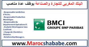 Banque BMCI recrute Plusieurs Profils Au Maroc