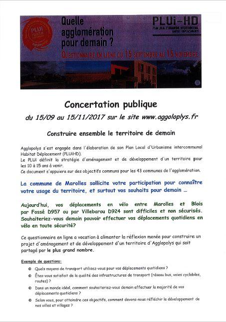Concertation publique PLUIHD