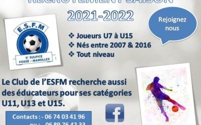 Recrutement ESFM 2021-2022