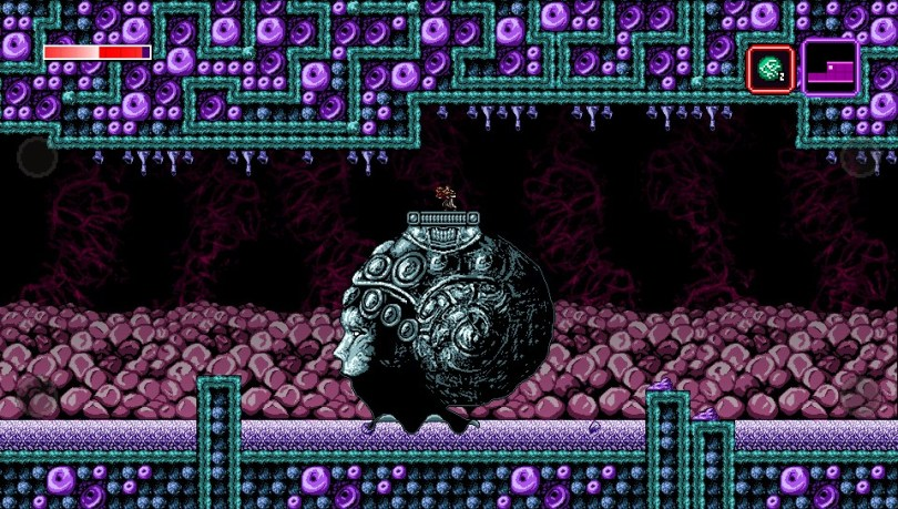 Axiom Verge has a thought-provoking aesthetic.
