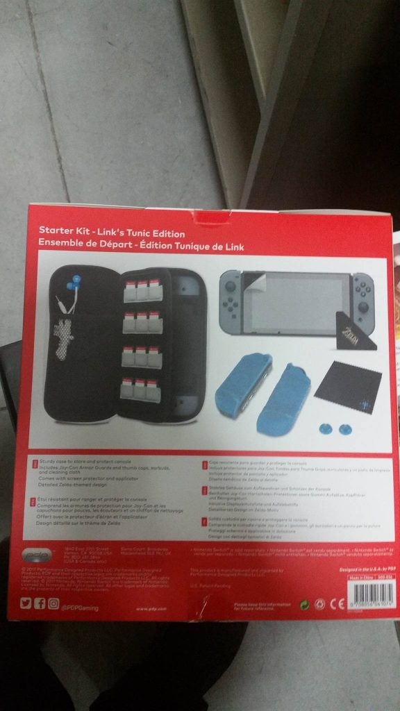 Switch accessories starter kit back