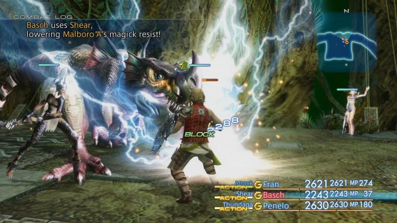 Zodiac Age Combat Screen