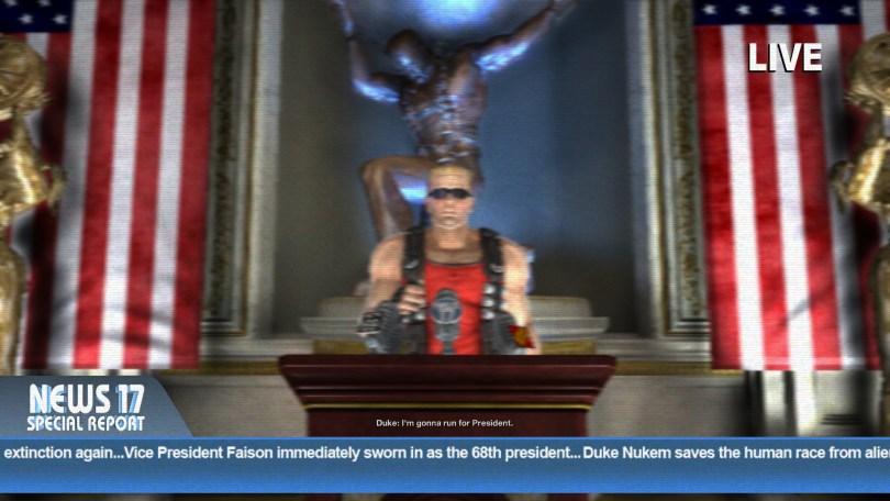 Duke Nukem Forever Running for President