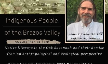 Indigenous People of BCS Hosted by Brazos Writers