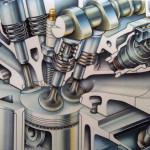El movimiento de los pistones y de las valvulas debe estar sincronizado. La rotura de la correa de distribución generaba muchas entradas al taller de mecánica