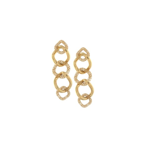Earrings in yellow gold.
