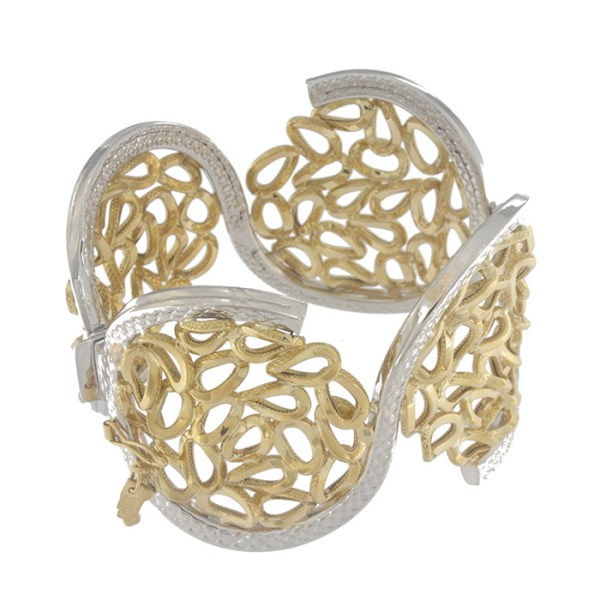 Bracelet in yellow and white gold