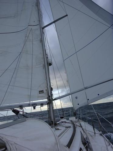 Quasi vent arrière jusqu'à Guernesey