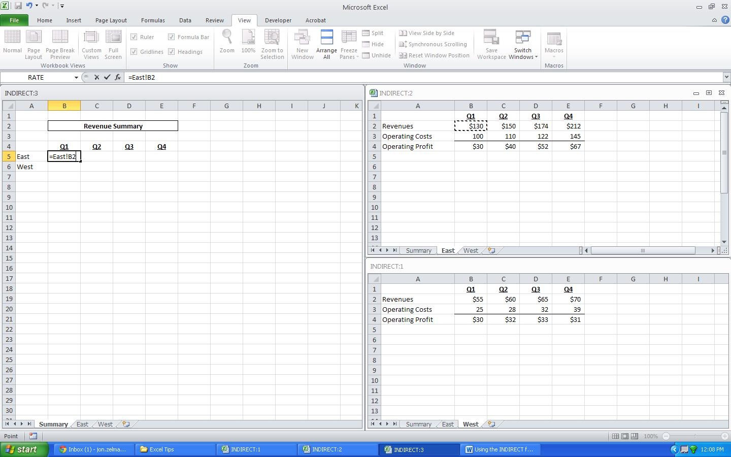 How To Use The Indirect Function In Excel